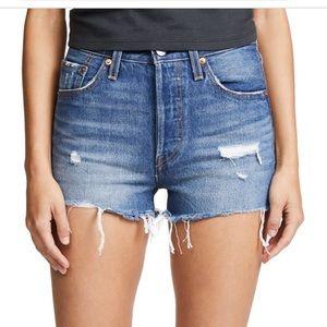 Levis's 501 High Rose Denim Shorts